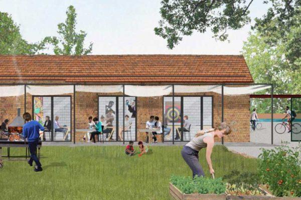 Eastriver progetto 2021, vista giardino.